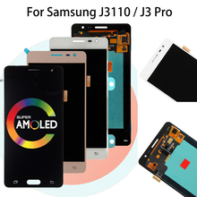 Super AMOLED LCD Display For Samsung Galaxy  J3110 J3 Pro J3110 J3119 LCD Screen Touch Screen Digitizer Assembly Replacement