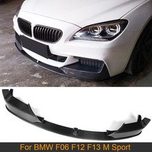 De fibra de carbono parachoques delantero labio divisores para BMW Serie 6 F06 F12 F13 M 640i 650i 2012-2017 coche parachoques delantero labio divisores