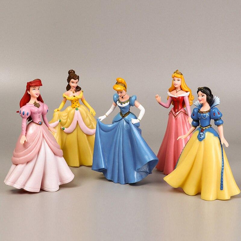 Vendas! Nova princesa sofia rapunzel boneca beleza belle sereia bonecas brinquedo conjunto presentes para meninas