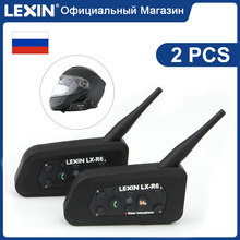 Lexin R6 Bluetooth קסדת אוזניות עבור 6 רוכבים 1200M אלחוטי BT intercomunicadores דה casco moto