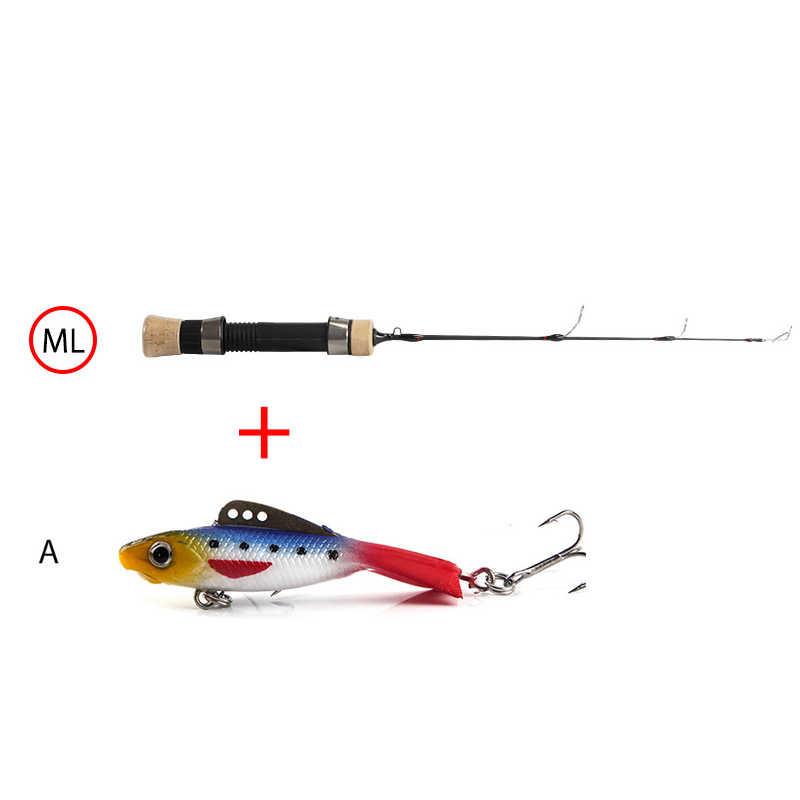 Ijs vissen spining hengel winter een sectie carbon ultra licht 4.1m 5m 5.6m eva handvat ML M MH L action vijvers pike accessoires