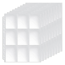 Pockets Double-Sided Trading Card Pages Sleeves 9-Pocket Clear Plastic Game Card Protectors for Fit 3 Ring Binder