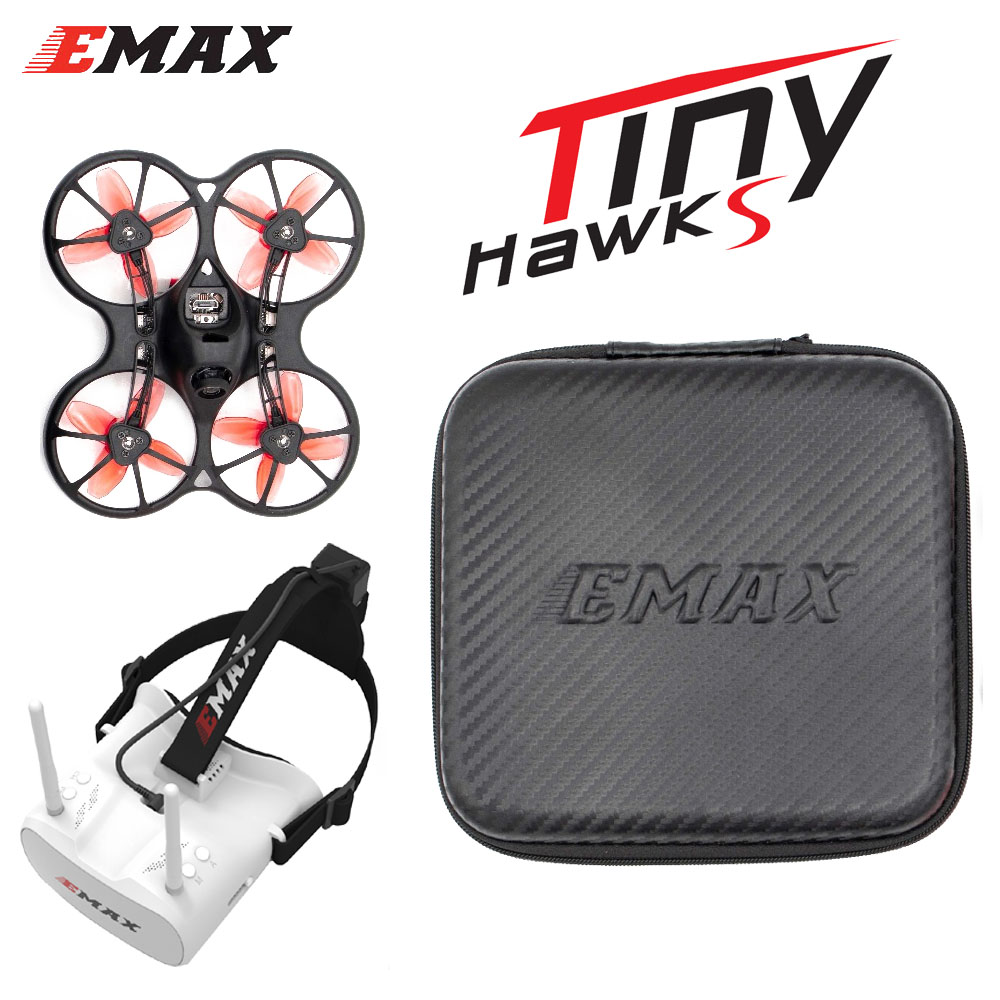 Emax 2S Tinyhawk S Mini FPV Racing Drone With Camera 0802 15500KV Brushless Motor Support 1/2S Battery 5.8G FPV Glasses RC Plane image