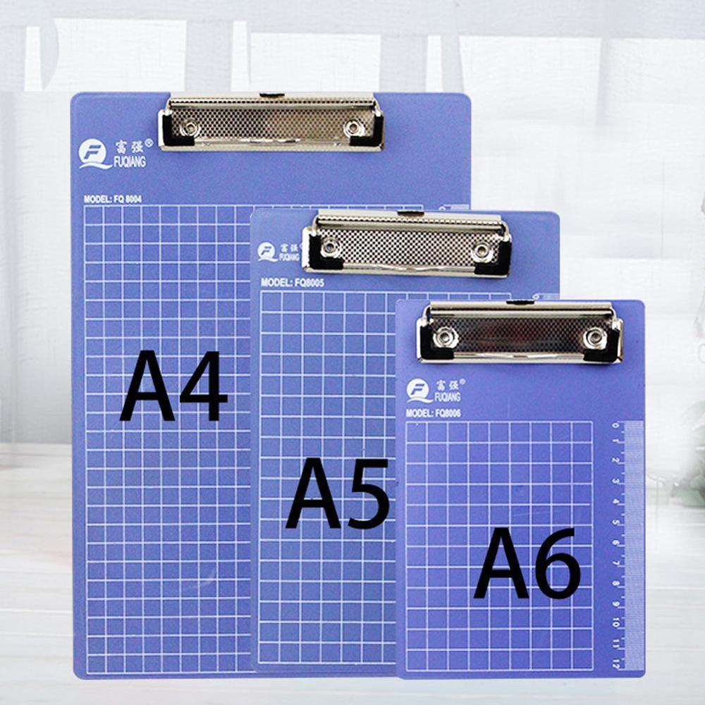 1PC A4/A5/A6 Writing Clipboard Plastic Office File Clipboard Metal Clip Butterfly Clip Office Accessories School Stationery