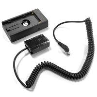 NP F970 F750 uchwyt baterii płyta montażowa z PW20 DC łącznik do aparatu Sony NEX F3 5 7 SLT A33 A55 SLT A35 a7 a6000 a3000 A630 w Adaptery AC/DC od Elektronika użytkowa na