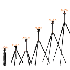 Image 5 - K&F CONCEPT Portable Camera Tripod Stand Aluminum Aolly 4 Section 63.4in/161cm with Panoramic 360° Swivel Ball Head for DSLRs