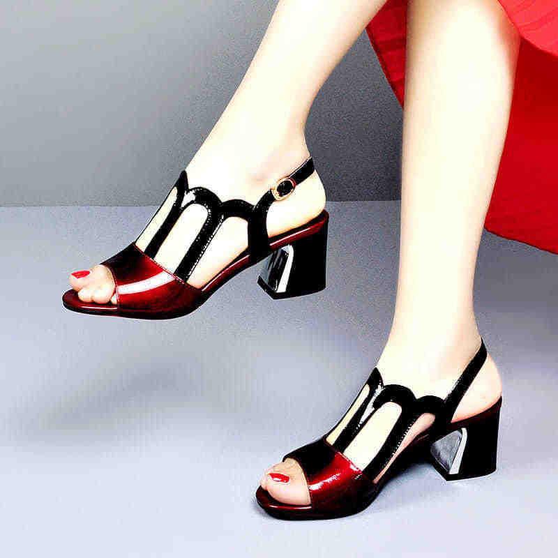 cheap red block heels