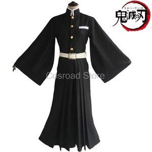 Image 4 - Cosroad Tokitou Muichirou Cosplay Costumes Demon Slayer: Kimetsu no Yaiba Muichirou Tokitou Wigs Men Women Kimono Uniforms