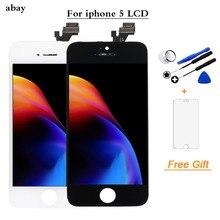 A1428 a1429 a1442 tela para iphone 5 5g lcd assembléia tela de toque com digitador para apple 5 5g display lcd reparação ferramentas gratuitas