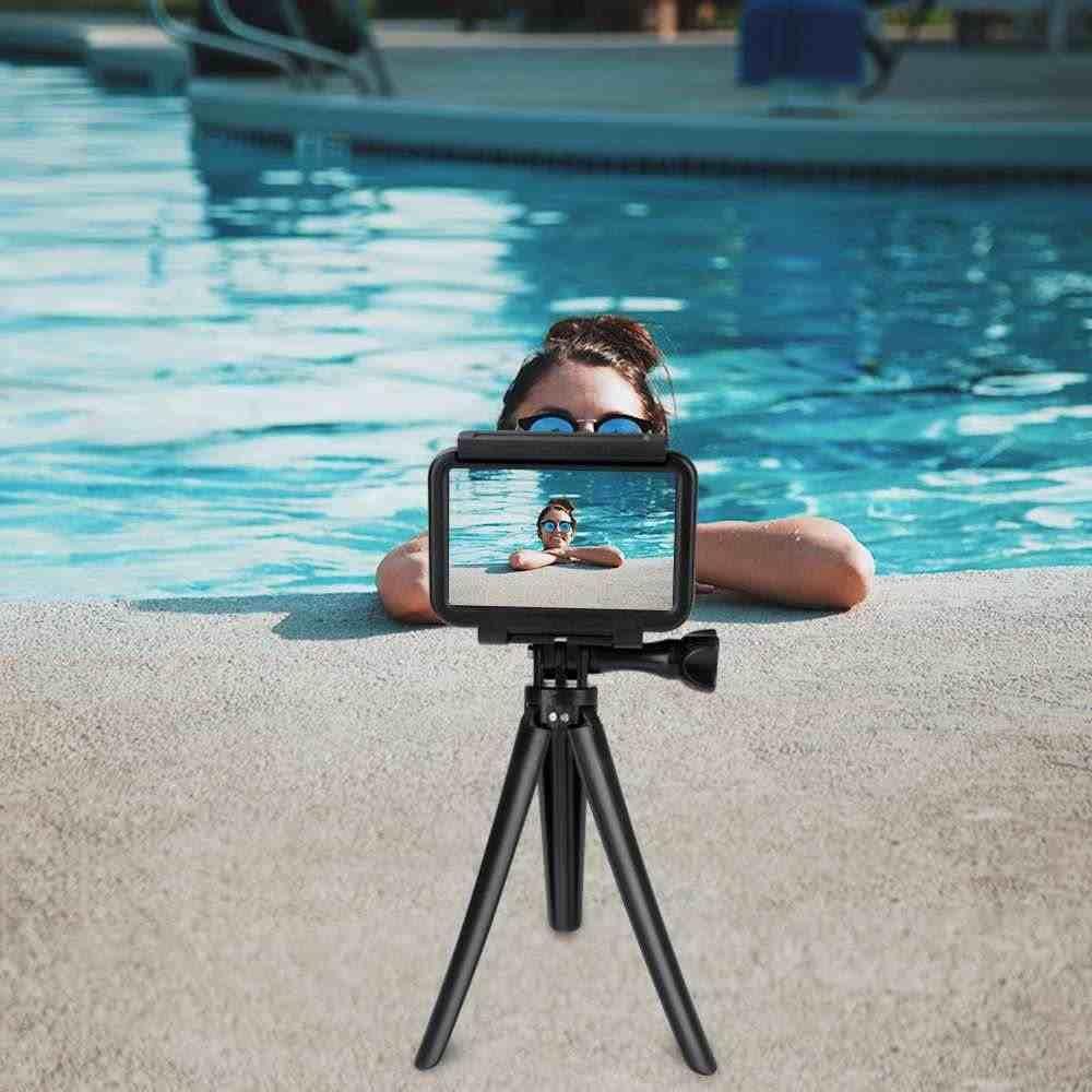 Trípode de palo Selfie de varilla de extensión de tres pliegues para Gopro para DJI OSMO Action FPV para DJI OSMO bolsillo de mano cardán Cámara