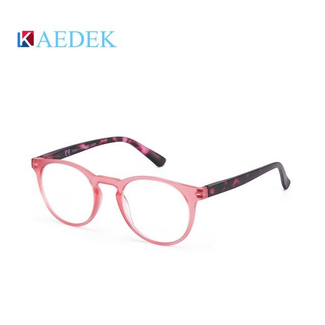 Купить kaedek дешевые очки для чтения женщин и мужчин черные круглые картинки цена