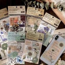 Journamm-tarjetas Vintage para decoración de teléfono, suministros de papelería estilo Retro, papel de planta, diario, etiqueta de álbum de recortes, Material, 15 Uds.