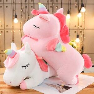 Image 4 - Soft Rainbow Unicorn Plush Toy Baby Doll  Stuffed Animal Horse Girls Christmas Gift Toy for Children halloween