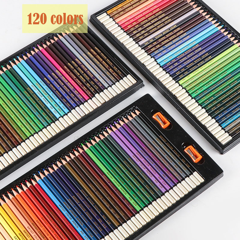 120 Professional Colored Pencils Drawing Oil Colored Pencil Set Artist Painting Sketching Prismacolor Colors Pencils School Art