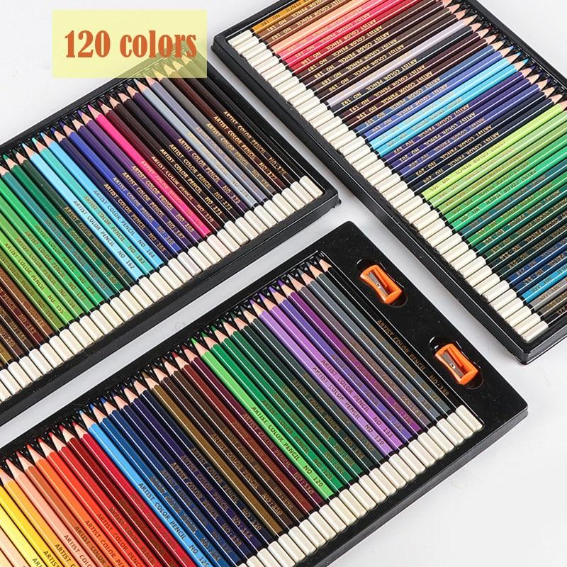 120 Professional Colored Pencils Drawing Oil Colored Pencil Set Artist Painting Sketching Prismacolor Colors Pencils School Art