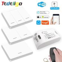 Smart-Light-Switch Voice-Timer-Module Remote-Control Tuya Alexa Wifi Googlehome Rf433mhz