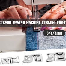 3mm/4mm/6mm Domestic Sewing Machine Foot Presser Rolled Hem Feet Set For Brother Sewing Accessories boys solid tee with rolled hem jeans