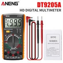 ANENG DT9205A recentemente HD Digital True RMS Multimetro professionale AC/DC tensione corrente Tester Buzzer Multimetro elettrico automatico