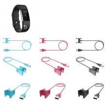 Replacement Charger Charging Cable Charging Cord for Fitbit Charge 2 Heart Rate and Fitness Wristband 55cm 100cm стоимость