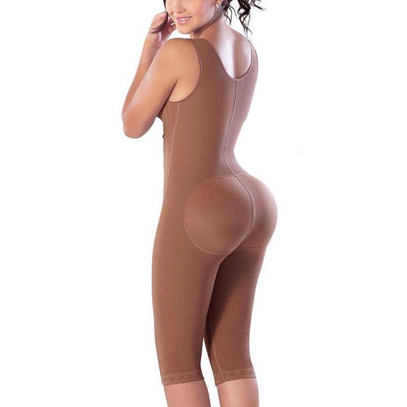 Body Postpartum per donna Shapewear Tummy Control Fajas chiusura frontale cerniera laterale Full Body Shaper 1
