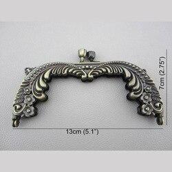 China Grootte 13cm Antieke Bronzen Portemonnee Frame Wholease Metal Purse Handvat Vintage Tas Accessoires Purse Frame