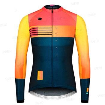 2020 gobikful pro equipe de manga longa conjunto camisa ciclismo primavera/outono ropa ciclismo roupas de bicicleta mtb camisa uniforme dos homens 1