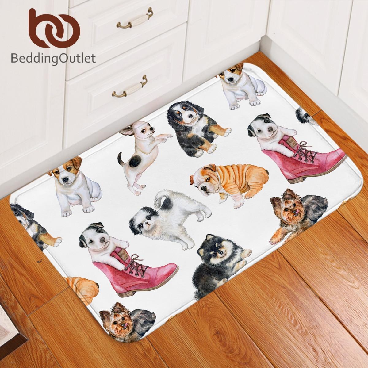 BeddingOutlet Shoes Puppy Carpet Bulldog Floor Mat for Kids Room Non slip Pink Cartoon Rug Animal Colorful Doormat alfombra|Rug| |  - title=