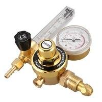 Ar durável argônio co2 medidor de pressão regulador mig tig medidor fluxo válvula controle único passo redutor pressão soldagem gás único t