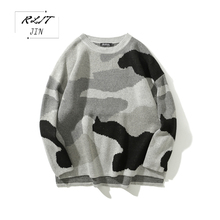 RLJT.JIN 2019 Hot High Quality Fashion Winter Thermal Artifact Mens Sweater Casual Simple Loose Round Neck Pullover street