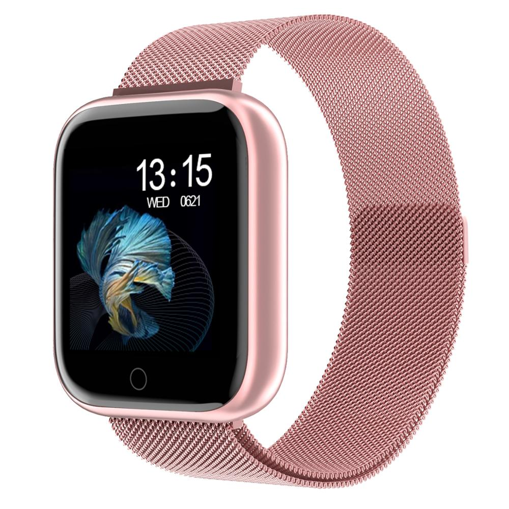 Steel Smartwatch Women Waterproof Smart Watch Men T80 Bluetooth Heart Rate Monitor Fitness Tracker For Apple IPhone Android