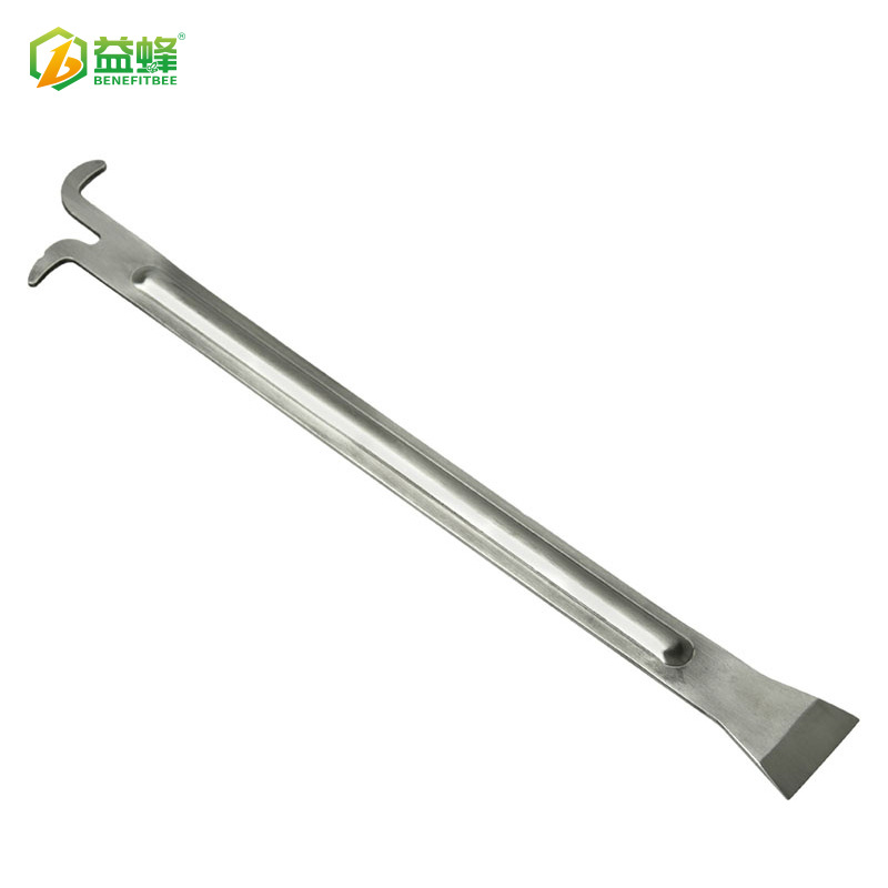 Beekeeping Tools Knife Stainless Steel Extra-Long Hive Tool With Reinforcing Rib Honeycomb Frame Honey Multi-Purpose Alice Splee