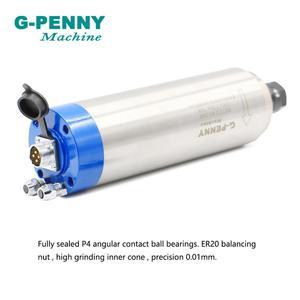 Image 3 - G PENNY 2.2kw er20 refrigerado a água do motor 80x230mm do eixo do cnc com precisão alta 0.01mm dos rolamentos de 4 pces para a máquina de trituração da gravura