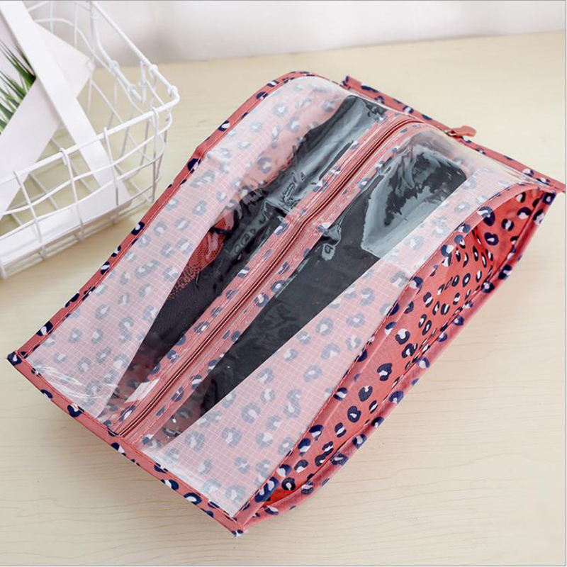 Portable Travel Shoe Packing Organizer Bag Supplies Organizer Shoes Storage Bag Zipper Striped Floral Outdoor Shoes Organizers