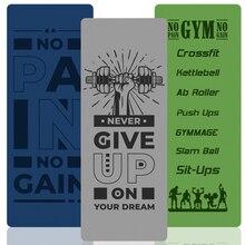 Коврик для фитнеса из ТПЭ толщиной 6 мм, мужские коврики для тренировок в тренажерном зале, кроссфита, экологически чистые Нескользящие Ковр...