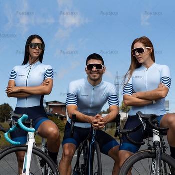 Grsrxx triathlon das mulheres skinsuit ciclismo conjunto conjunto de ciclismo conjunto feminino macacão kits bicicleta maillot ropa ciclismo conjunto 1