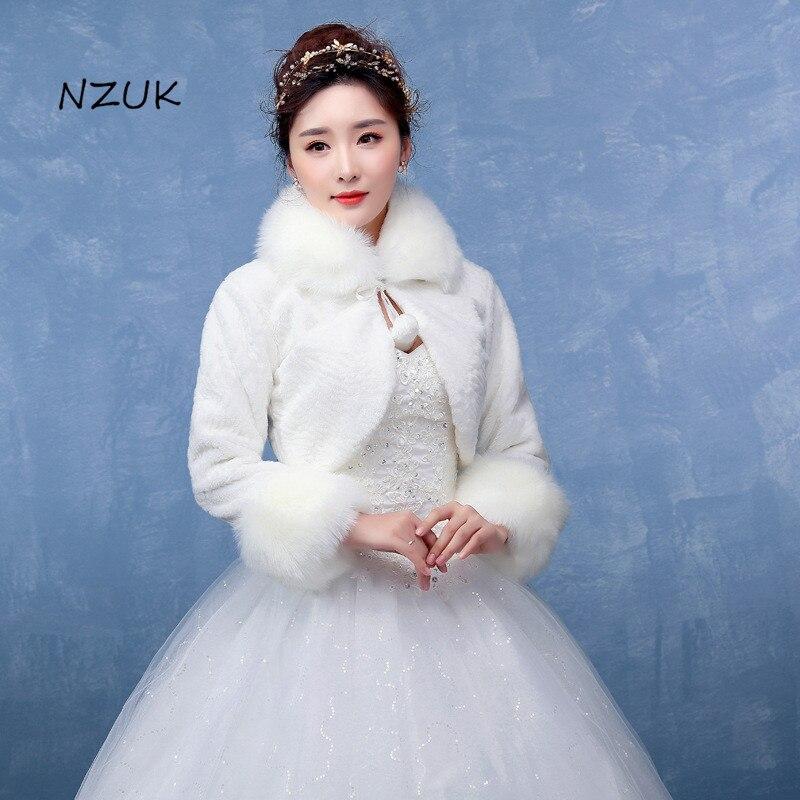 Wedding Dress Jacket Bride Married Hair Shawl Etiquette Caterpillar Collar Cotton Autumn And Winter Coat Long Sleeve PJ053