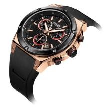 лучшая цена MEGIR 2019 Sport Men Watch Top Brand Luxury Chronograph Quartz Watches Men Relogio Masculino Silicone Army Military Wristwatch
