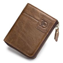 BULL CAPTAIN Cow Leather Men Wallet Fashion Coin Pocket Multifunction Purse High Quality Male Card ID Holder