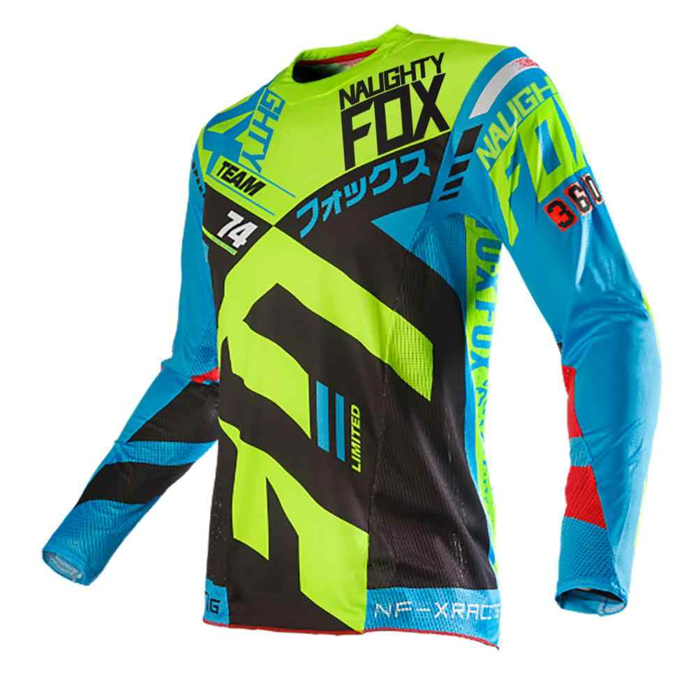 Nakal FOX MX MTB 360 Divizion Pria Gear Motocross ATV Dirt Bike Balap Off-Road Gear Jersey Balap