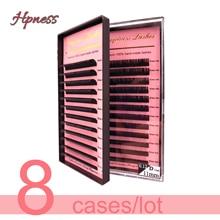 8 Trays/Lot Premium Eyelash Extension 3 D Individual Eye Lash Classic Lashes Extension Soft Silk Mink Lashes HPNESS