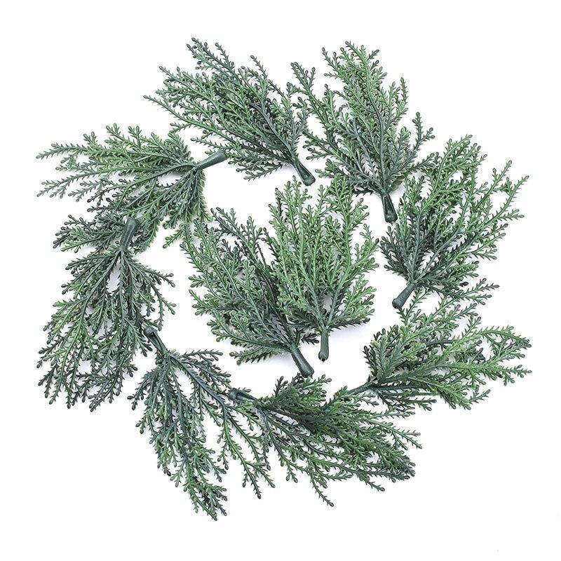 10 шт Мини Рождественская елка материалы искусственные растения для дома украшения аксессуары Скрапбукинг цветок кашпо