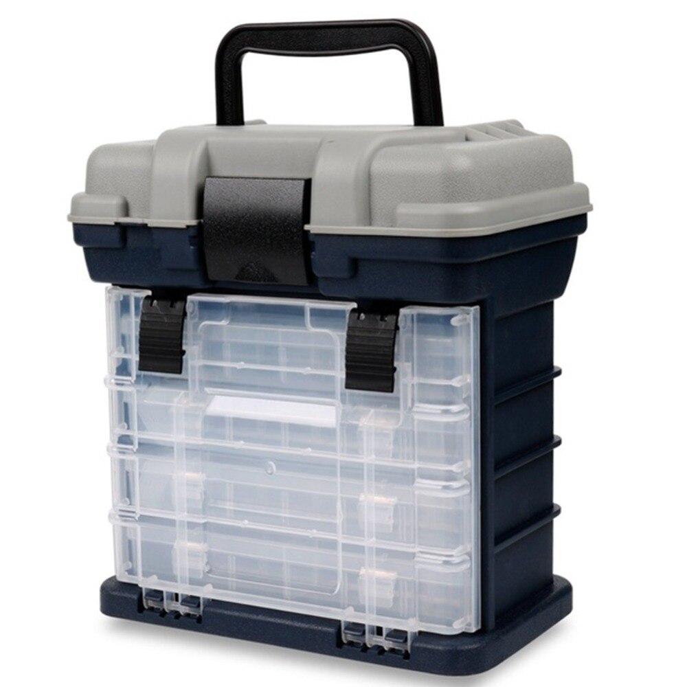 Caixa de acessórios de pesca multifunção, portátil,