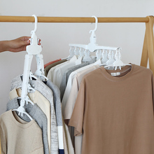 Magic Hangers Folding Clothes Hangers Closet Space Saving Wardrobe Clothing Hanger Oragnizer For Wardrobe,Shirt Skirt Coat Kids pants hangers trousers skirt hangers with clips 4 tier metal hangers for heavy duty ultra thin space saving 4 pack