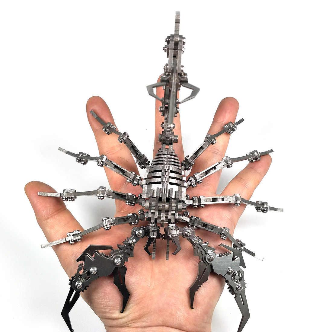Scorpion roi modèle Kit d'assemblage 3D en acier inoxydable bricolage assembler des modèles détachables Puzzle jouets ornements enfants hommes cadeau argent