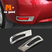 цена на Fit for Toyota Corolla Altis 2014 2015 2016 2017 Chrome Rear Bumper Fog Light Lamp Cover Trim Reflector Foglight Garnish Molding