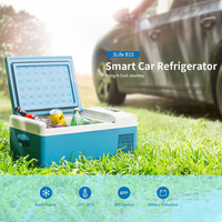 15L Car Refrigerator 12V Portable Mini Fridge Compressor Car Fridge Camping Portatil Auto Cooler Freezer Smart APP Control