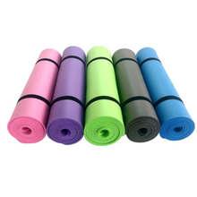 Большой коврик для йоги 173 см х 61 см 6мм пены PVC для домашнего йога Пилат фитнес-упражнения
