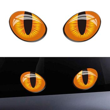 1 Pair 3D Cat Eyes Stickers Car Window Rearview Mirror Reflective Decor Decals HOT SALES 2020 image