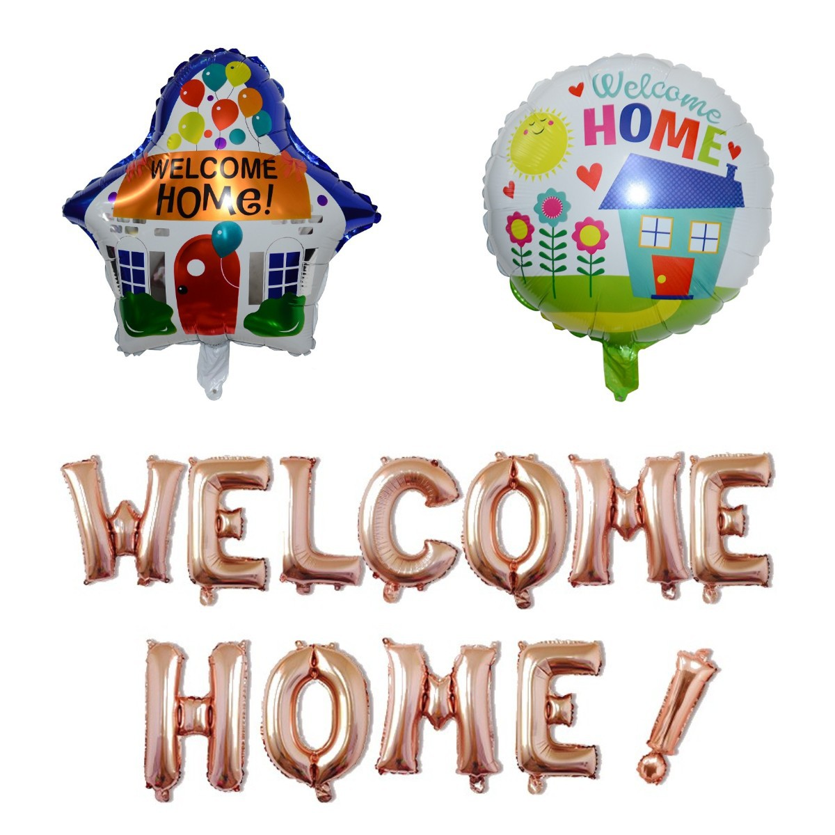 Cross Border For Welcome Home! Welcome Home Letter Balloon Party Balloon Set Aluminum Film Balloon