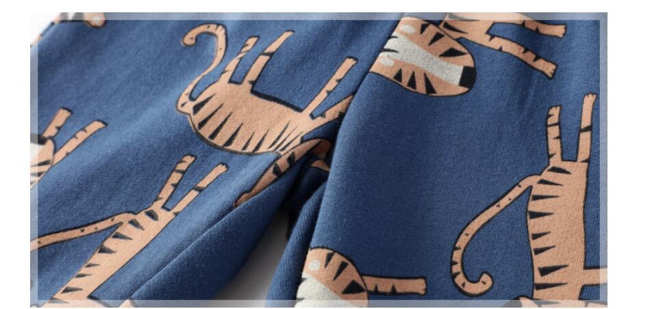 Little maven baby boy trousers children's knitted cotton stretch toddler boy animal dinosaur print pants 11031 3